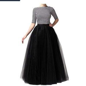 Tulle skirts. 1 floor length and 2 midi length